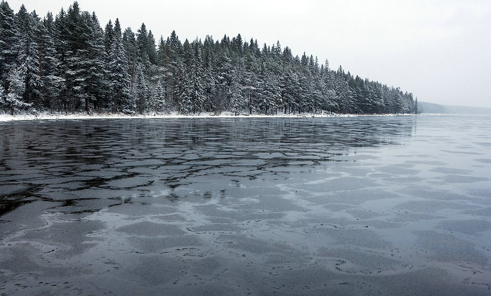 Онежское озеро зимой