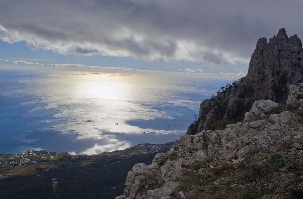 величественная панорама Черного моря