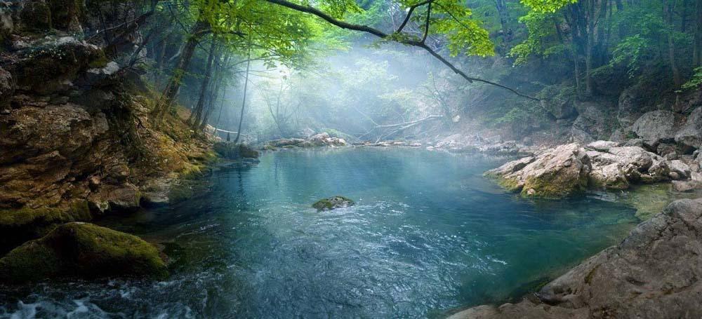 дымка на Голубом озере