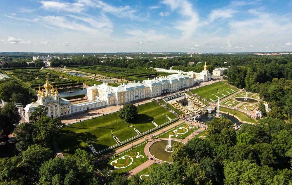 панорама Петергофа