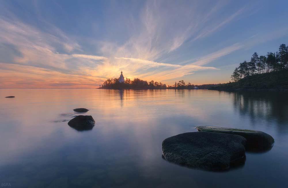 остров на закате