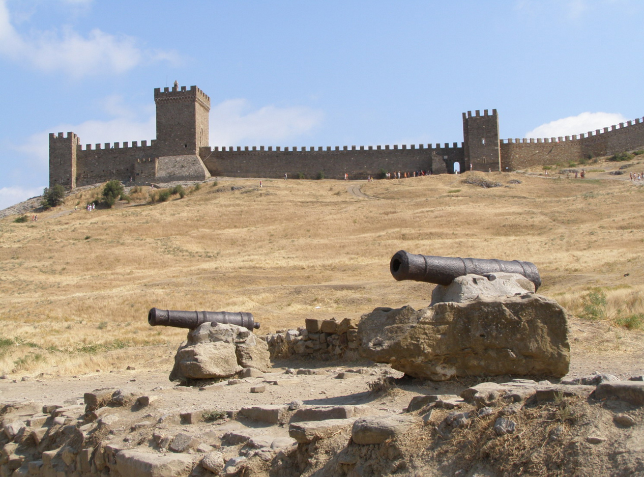 пушки в крепости