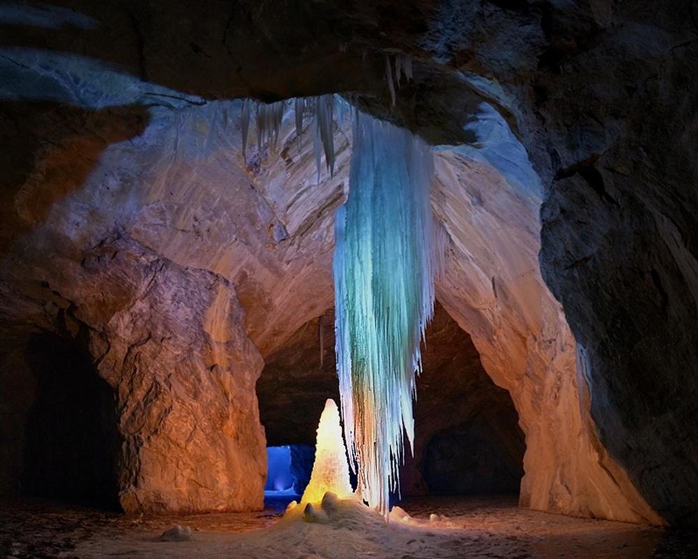пещера зимой