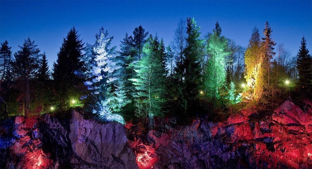 подсветка каньона рускеала