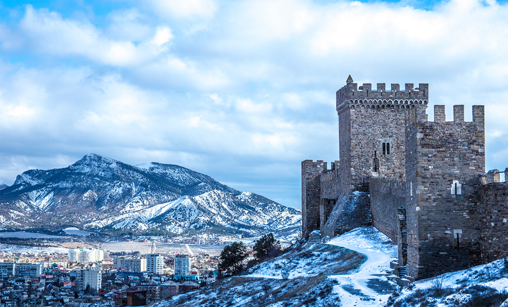 вид крепость зимой