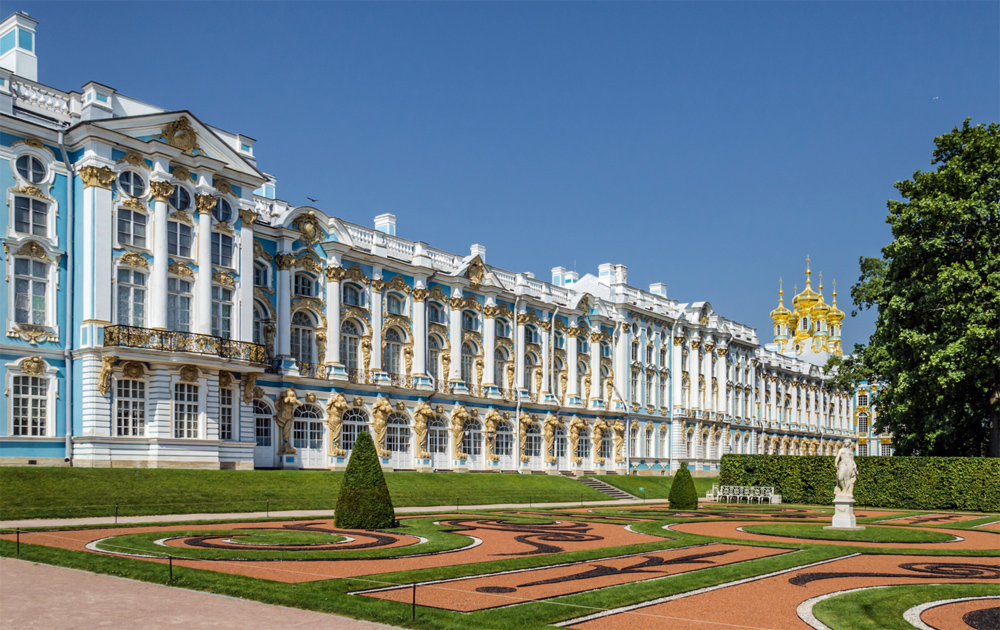 Екатерининский дворец вид с парка