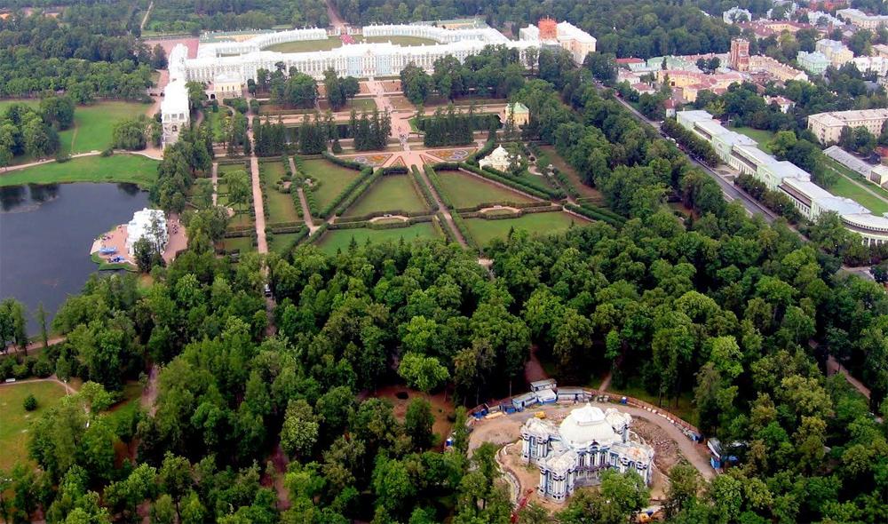 Александровский парк сверху