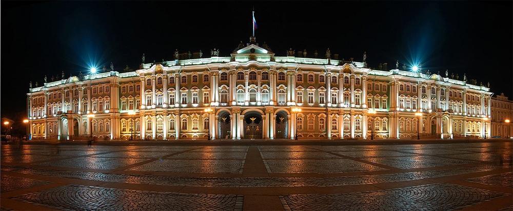 подсвеченный дворец