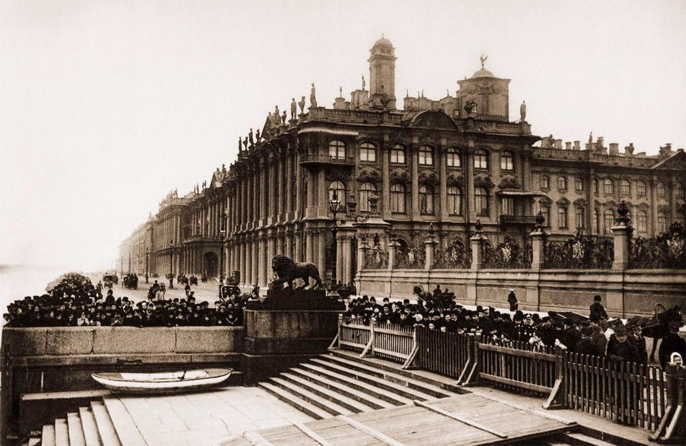 старое фото Зимний дворец