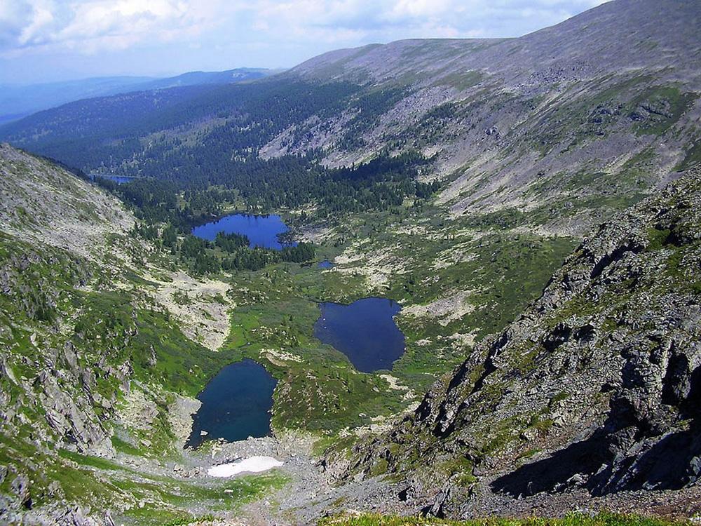 Вид на озера сверху