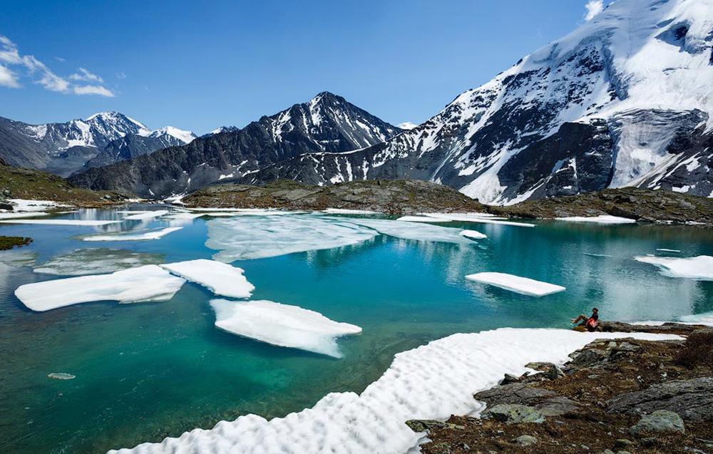 Озера зимой