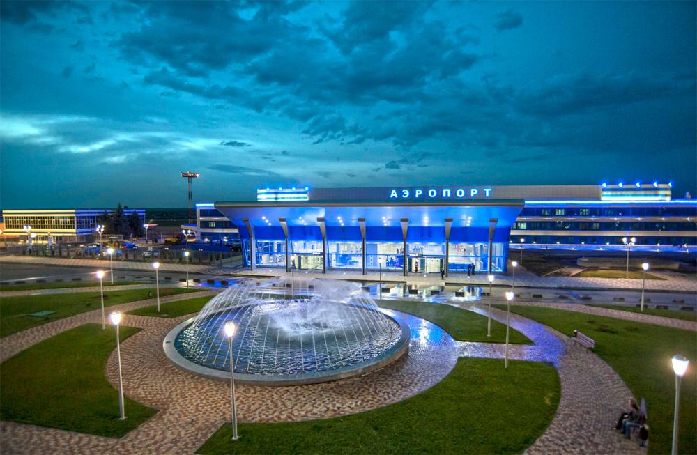 Минеральные Воды аэропорт ночью