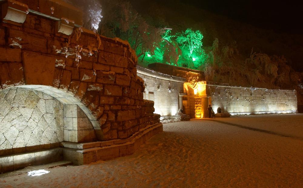 Провал в Пятигорске зимой
