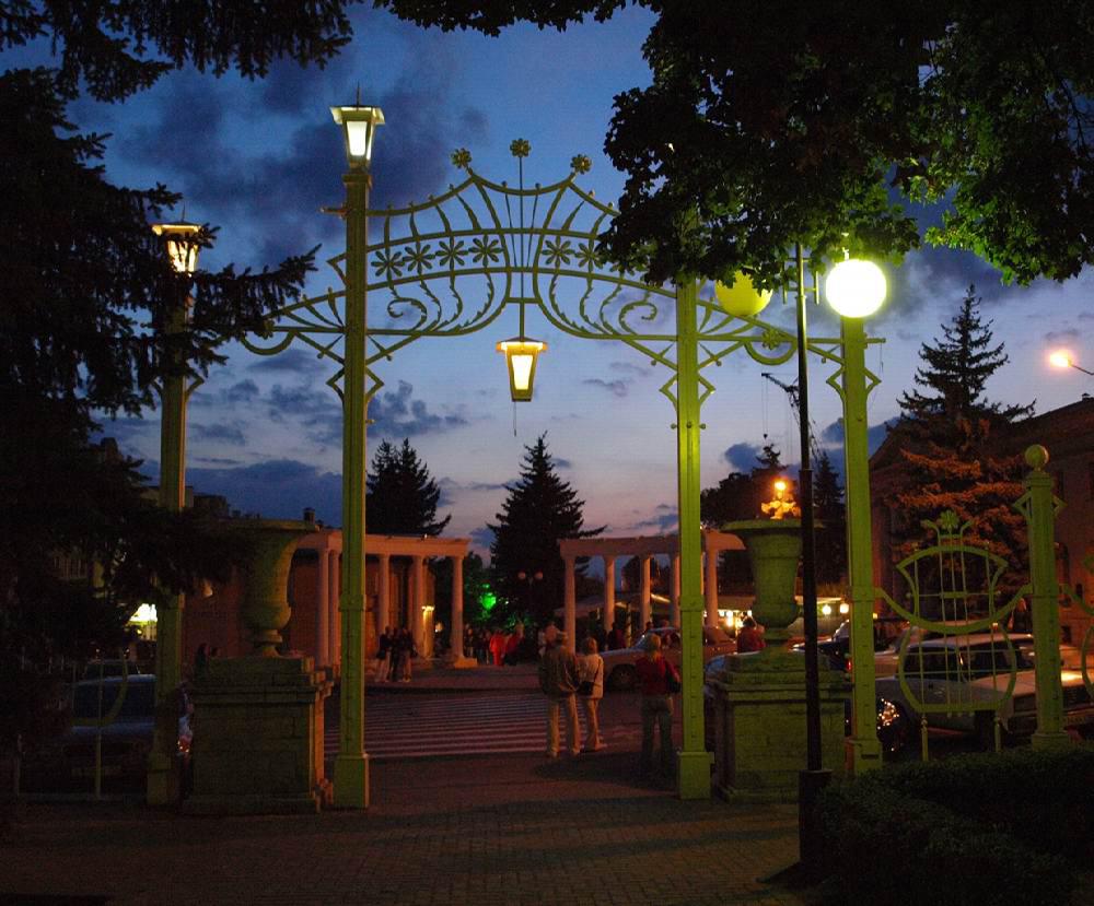 Цветник в Пятигорске вход в парк
