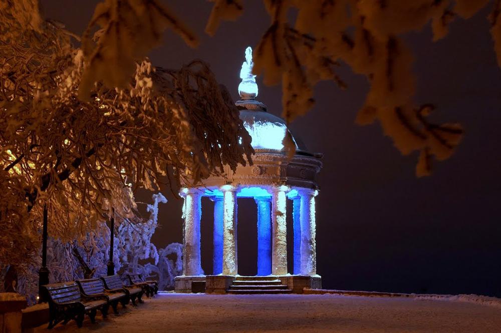 Эолова арфа Пятигорск зимой ночью