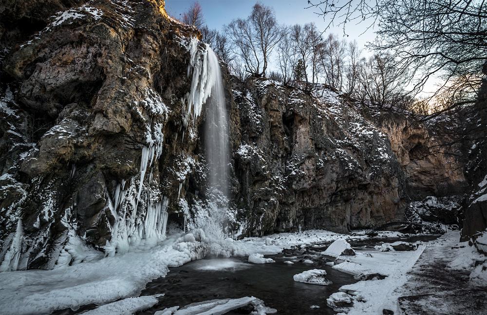 Водопад замерз