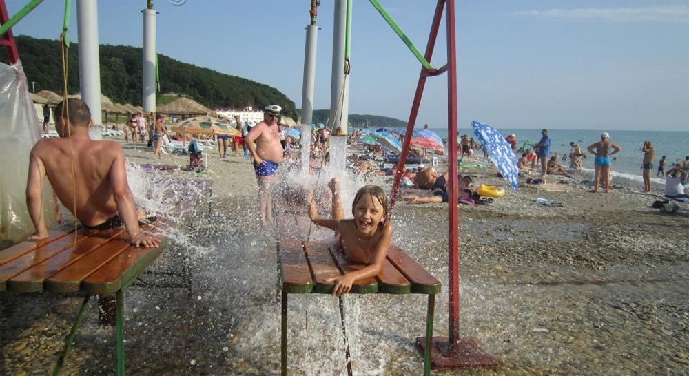 гидромассаж на пляже Агой