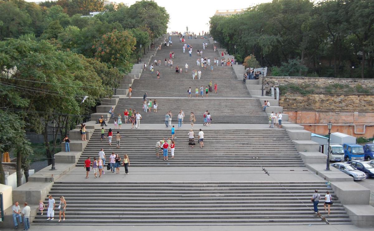 Знаменитые ступеньки в Одессе