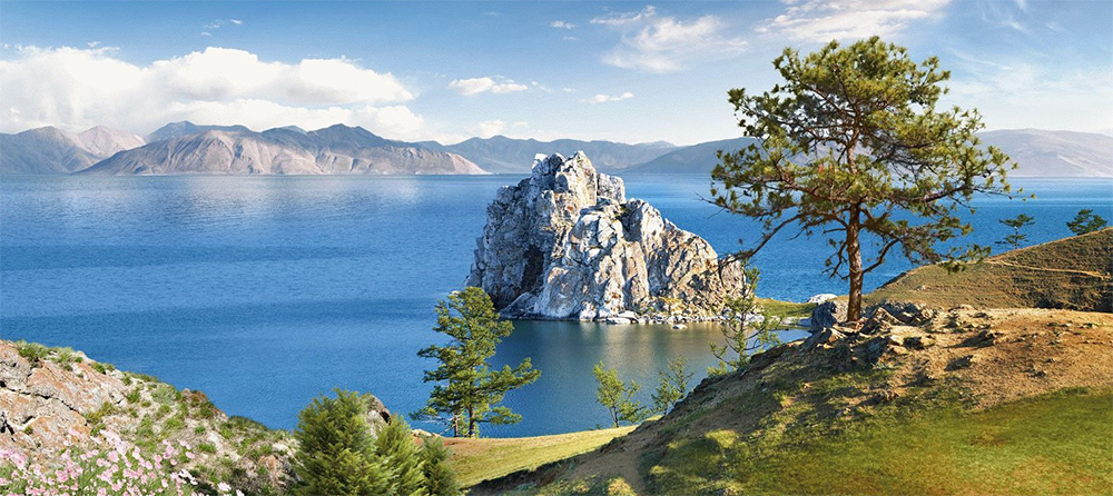 красивый вид озера