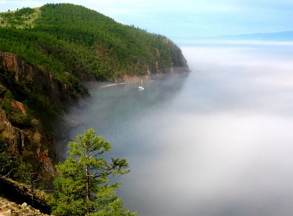 бухта в тумане