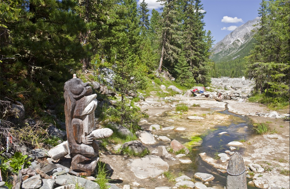 Долина Шумак деревянная статуя