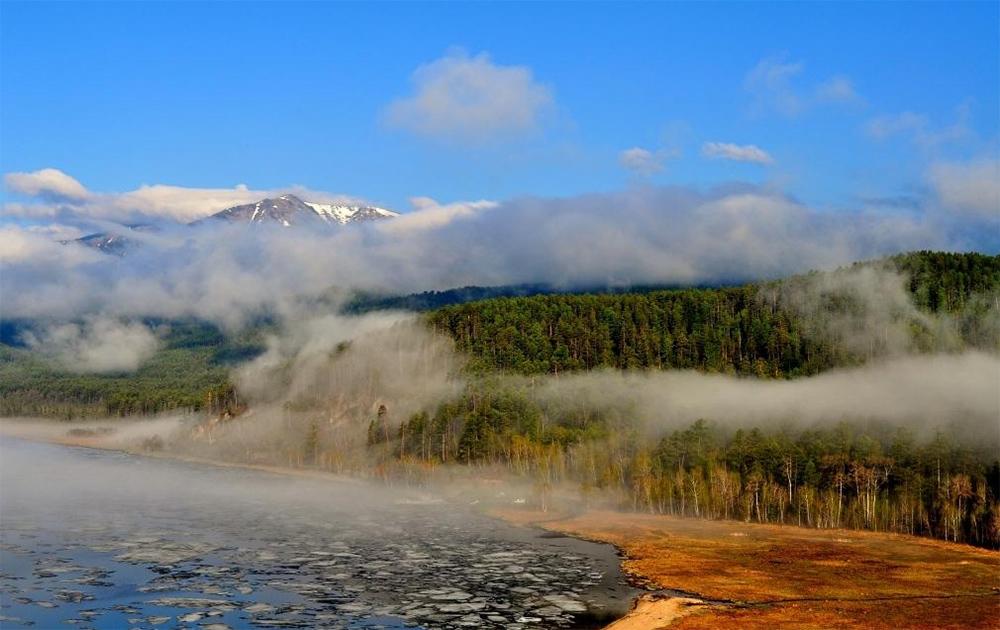 Забайкальский национальный парк в тумане