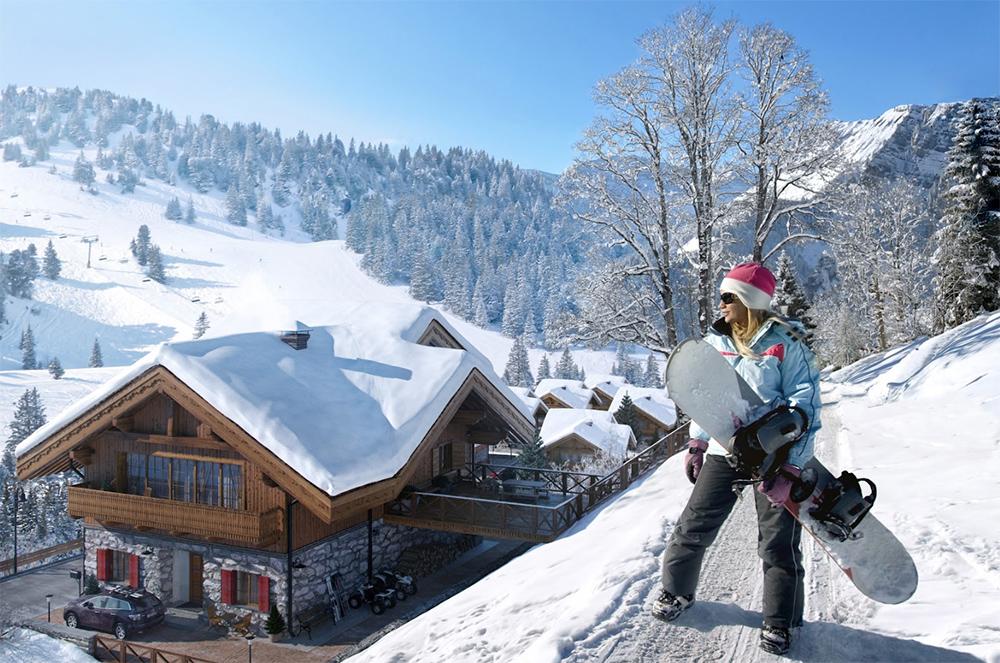 катаемся на сноуборде
